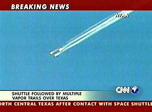 space shuttle columbia disaster. space