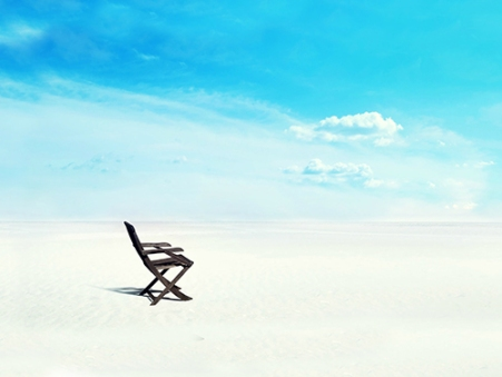 chair by sea
