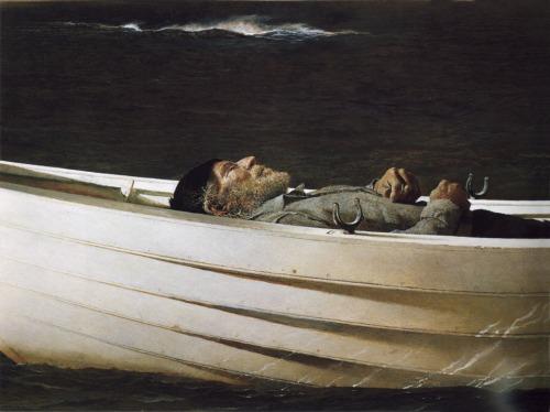 "Andrew Wyeth, ""Adrift"""