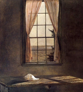 """Andrew Wyeth, """"Her Room,"""" detail"""