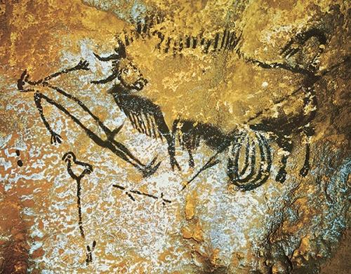 lascaux-birdman-bison